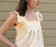 Spring Ruffle Top Tutorial