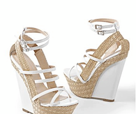 Wedge Sandals with Ankle Wrap