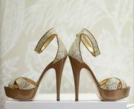Glittery Stiletto Sandals