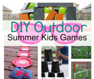 DIY outdoor Summer Kids games