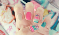 Summer aztec nails