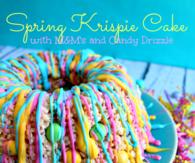 Spring Krispie Cake