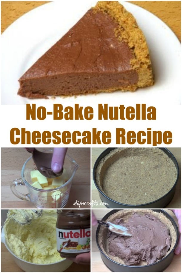 No Bake Nutella Cheesecake Recipe