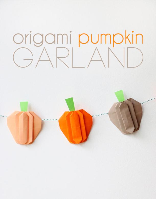 how to make origami pumpkins