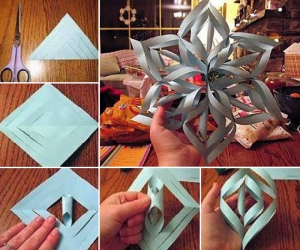 how to make paper snowflakes step by step instructions