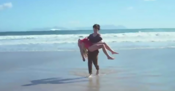 A Boy Saves A Girl From Drowning. Then An Unexpected Thing