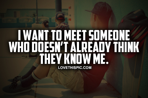 want to meet people
