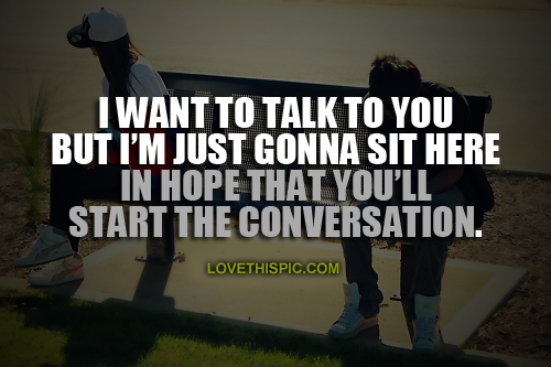 I Need To Talk To You